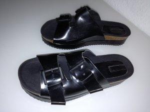 Stradivarius High-Heeled Sandals black