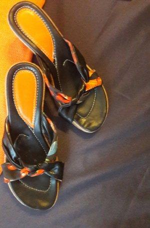 Strapped Sandals multicolored textile fiber