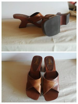 Dockers Heel Pantolettes cognac-coloured-brown