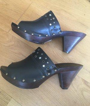 Esprit Heel Pantolettes black-silver-colored