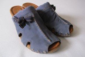 Pantoletten von rieker Gr. 38 jeansblau