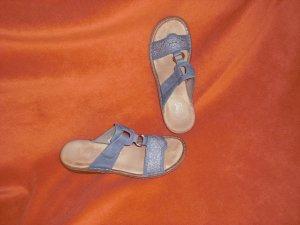 Rieker Mules steel blue imitation leather
