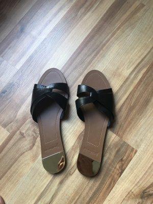 Stradivarius Heel Pantolettes black