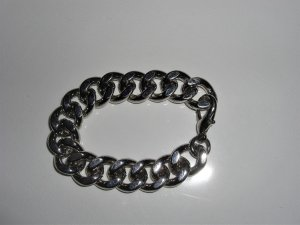 Panzekette Armband Silberfarben 20  cm   neu