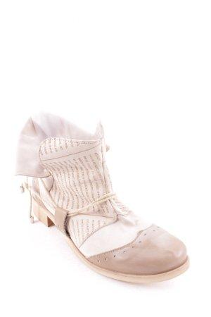 Paola Firenze Schlüpf-Stiefeletten beige-hellbeige Casual-Look