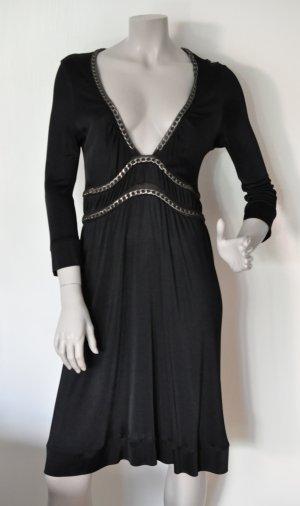 Paola Frani Kleid Viskose mit Kettenelementen schwarz dt. Gr. 40