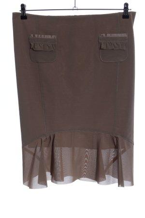 Paola Frani Midi Skirt brown casual look