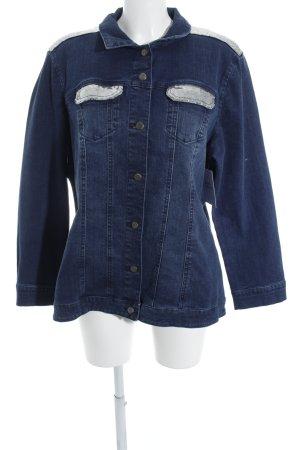 Paola! Jeansjacke blau-silberfarben Street-Fashion-Look