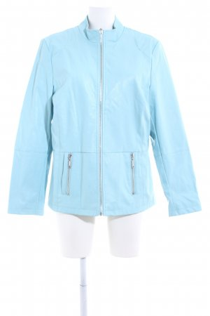 Paola! Faux Leather Jacket blue business style