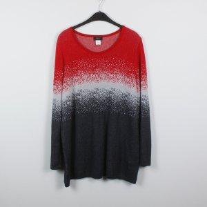 Paola! Pullover Gr. L/XL rot grau gemustert (18/12/025)
