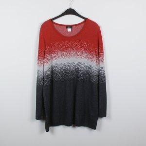 Paola! Pullover Gr. L/XL rot grau gemustert
