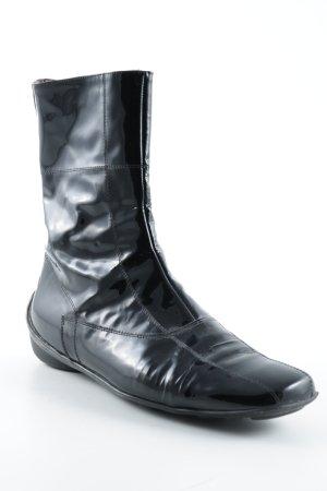 Paoli Reißverschluss-Stiefeletten schwarz-karminrot Elegant