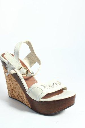Paolo Mattei Platform High-Heeled Sandal cream classic style