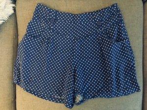 Papaya Hose blau Punkte Polka Dot Vintage Gr 38-40