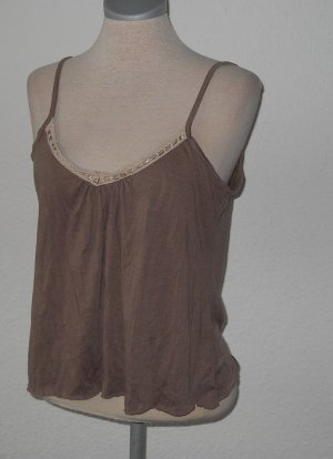 Papaya Top beige + Spitze goa hippie Gr. UK 10 38 S M