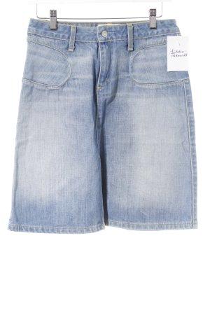 paper denim&cloth Jupe en jeans bleu azur-bleu pâle style décontracté
