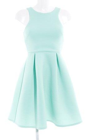 Paper Dolls A-Linien Kleid türkis Streifenmuster Casual-Look