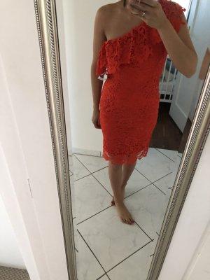 Paper Dolls Midi-Kleid Spitze Rot Größe 38