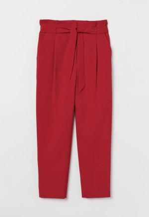 Pantalon à pinces rouge