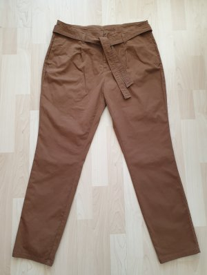 Yessica Chinos cognac-coloured-brown cotton