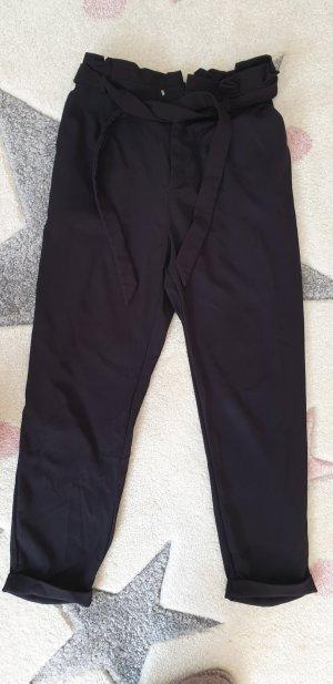 Pull & Bear High Waist Trousers black