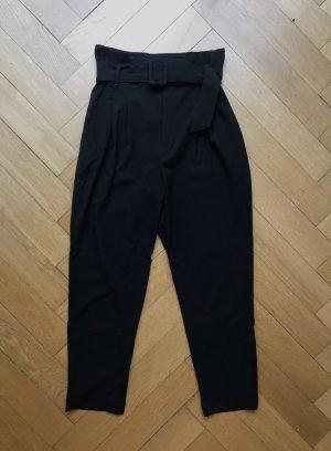 Bershka Pantalone a vita alta nero