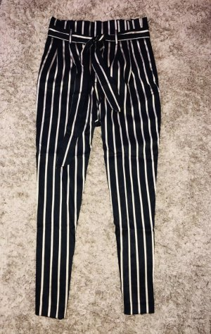 H&M High Waist Trousers black-gold-colored viscose