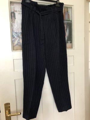 Pantalon à pinces gris clair-bleu foncé