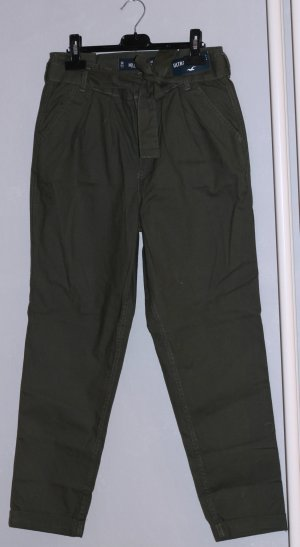 Hollister Pantalon taille haute kaki