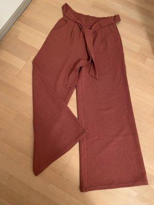 Native Youth Pantalón anchos naranja oscuro-bermejo