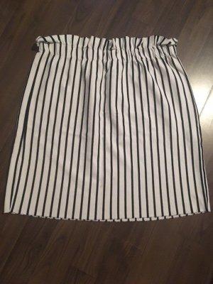 Bershka High Waist Skirt white-dark blue