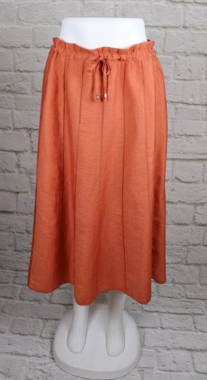 Paperbag Rock Midirock Orange Rost Biesen Retro