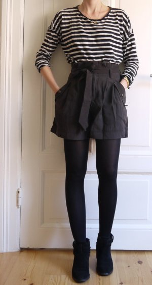 H&M Conscious Collection High-Waist-Shorts anthracite