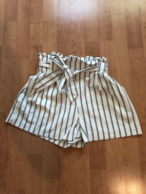 Zara Bermudas white-steel blue