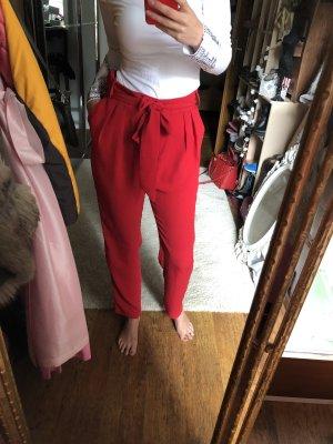 Mango Suit Pantalón de pinza alto rojo