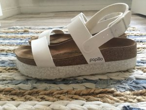 Birkenstock Platform Sandals white leather