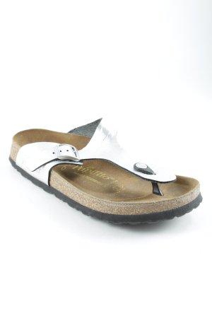 Papillio Sandalias cómodas color plata look casual