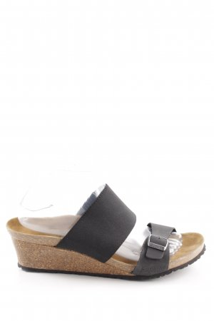 Papillio Wedge Sandals black-brown casual look
