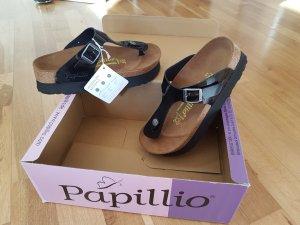 Papillio Toe-Post sandals black-camel