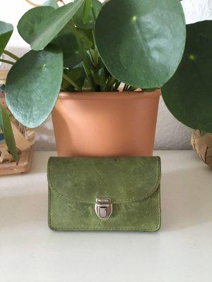 Portefeuille vert olive