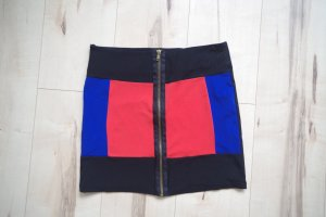 Paprika Minirock schwarz rot blau Größe 10 / S