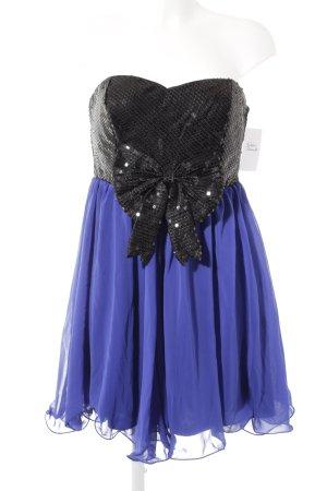 Paprika Vestido de lentejuelas azul-negro estilo fiesta