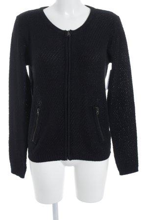 Paprika Knitted Cardigan black weave pattern glittery