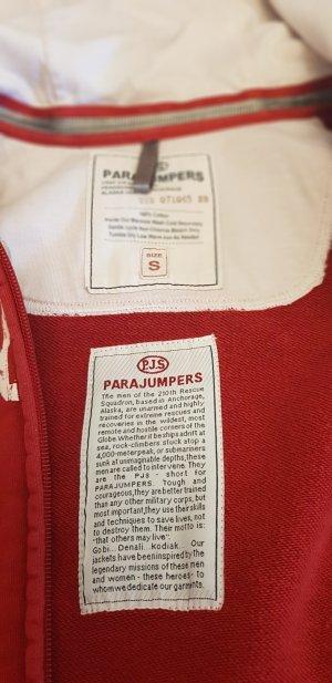 Parajumpers Veste sweat blanc-rouge