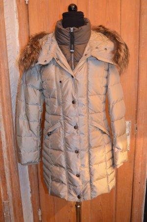 Quilted Coat beige-grey brown polyester