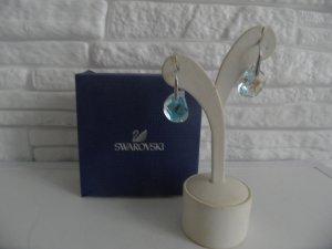 Parallele Ohrringe von Swarovski Silber Blau Luxus Pur!