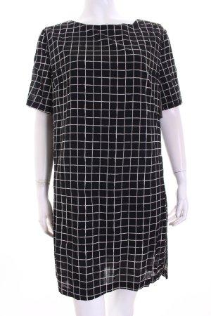 Paramita A-Linien Kleid schwarz-weiß Karomuster Retro-Look