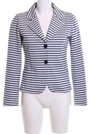 Paraphrase Jersey Blazer blanco-azul estampado a rayas look casual