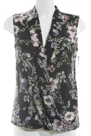 Paraphrase Kurzarm-Bluse florales Muster Casual-Look