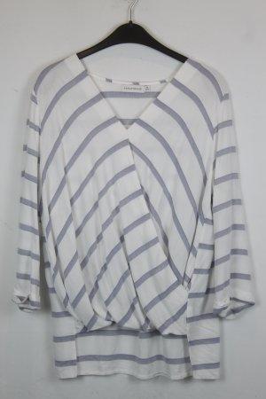 Paraphrase Shirt Wickelshirt Gr. 42 weiß mit blauen Streifen (18/5/310)